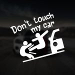 Sticker Don't touch my car fight