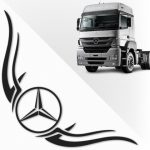 Set stickere geamuri laterale camion Mercedes
