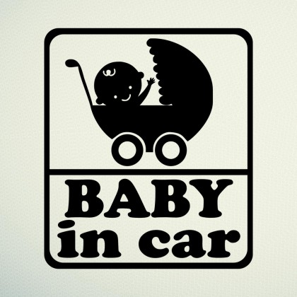 Sticker Carut baby in car